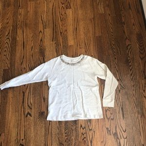 J.Crew gemstone crew neck
